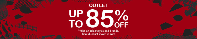 Up to 85% off marked down products. Outlet offers are valid on select styles and brands, with final discount shown in cart.