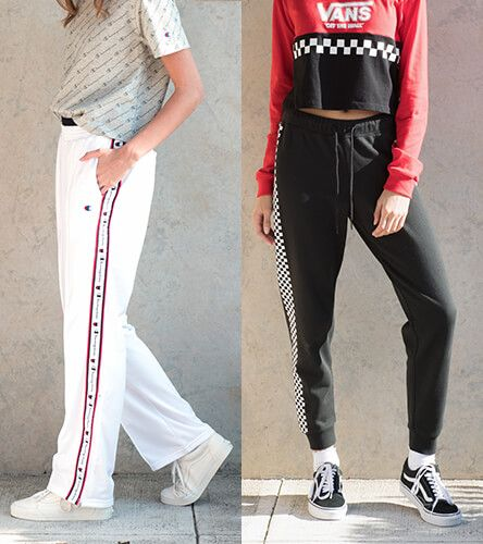 Track pants, casual pants, sweatpants and leggings from Champion, Rothco, Vans, adidas, and other great brands.