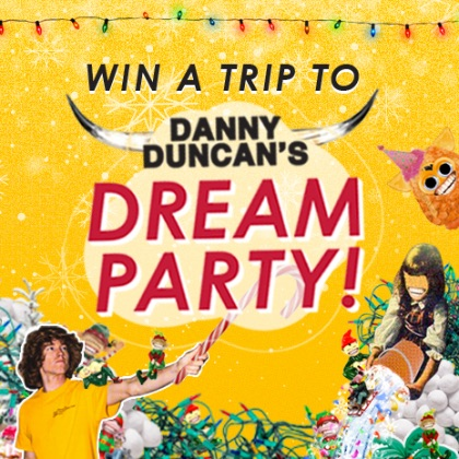 Use points to enter for a chance to Win A Trip To Danny Duncan's Dream Party.