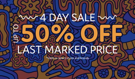 Save up to 50% off the last marked price on select styles and brands of clothing, shoes and accessories.