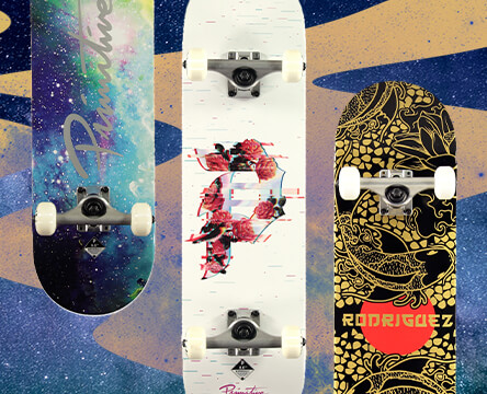 Shop complete skateboards from Primitive and more that are ready to ride without any assembly.