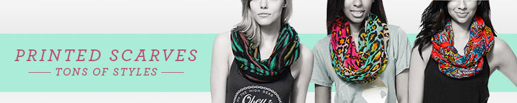 Printed Scarves Tons Styles