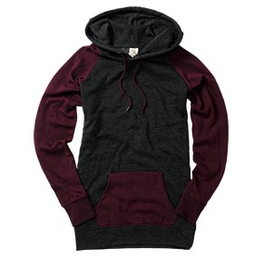 Blackberry/Charcoal Colorblock Pullover Hoodie