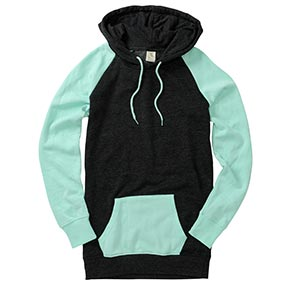 Mint/Charcoal Colorblock Pullover Hoodie