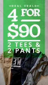 4 for $90 - 2 Tees & 2 Pants
