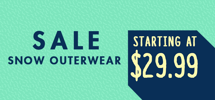 Snow Sale Outerwear