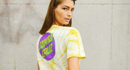 Santa Cruz Yellow Tie Dye T-shirt