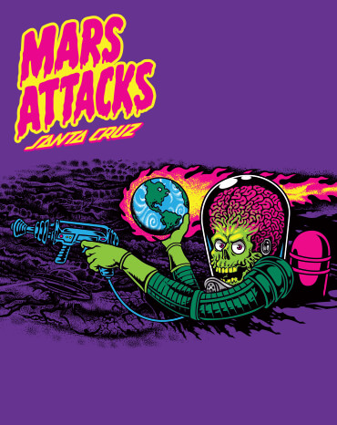 Mars Attacks x Santa Cruz