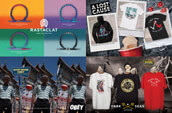 Rastaclat bracelets and clothing from Obey, A Lost Cause, and Dark Seas.
