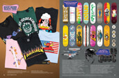 Shop skateboard decks, wheels, and trucks from a variety of brands, along with helmet and pads, and T-shirts from Thrasher, Spitfire, Toy Machine and other skate brands.