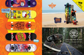 Shop skateboard completes from Welcome, Girl, Primitive, and other brands, along with longboard and cruiser completes from Dusters, and shoes from Etnies.