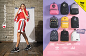 Champion clothing and shoes for women, along with a variety of backpacks from Vans, Champion, Jansport, Eastpak, adidas, and more.