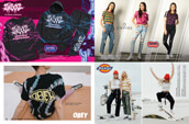 Shop women's clothing from Swixxz, Obey, Empyre, and Dickies.