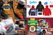Shop Brixton x Chevrolet, Cookies and Stash Rewards.