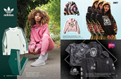 Shop women's apparel by adidas, Obey and Lurking Class.