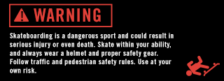 Skateboard Safety Warning