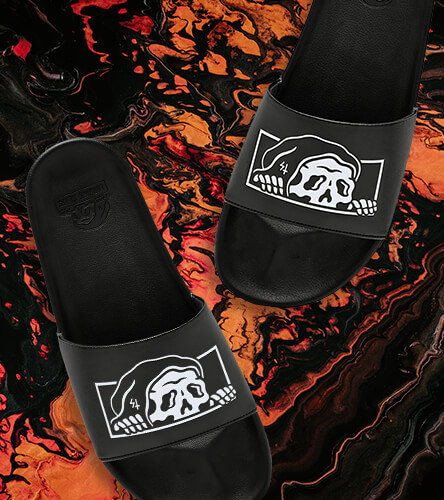 Check out slides and sandals, featuring the Lurker black slide sandal by Lurking class.