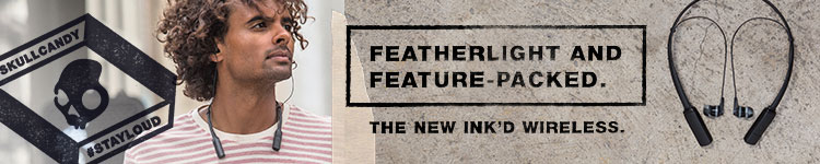 Skullcandy - The New Ink'd Wireless. Featherlight and feature-packed.