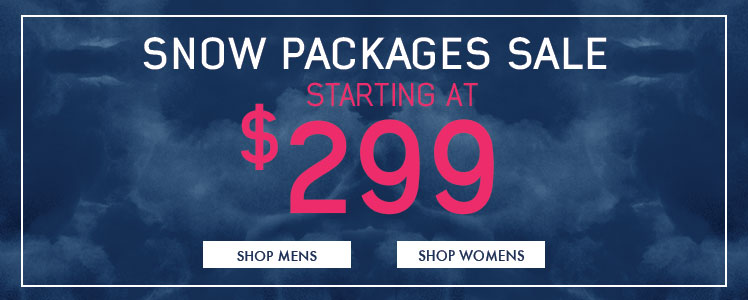 Past Season Snow Gear Packages on Sale