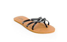 Volcom Women's New School Black Sandals