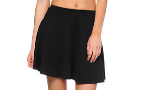 Lunachix Black Textured Skater Skirt