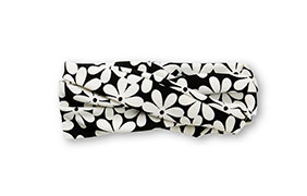 See You Monday Black & White Retro Daisy Print Headband