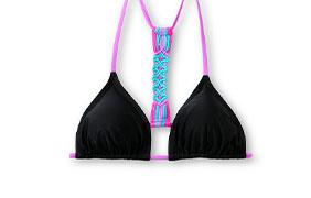 Damsel Macrame Black Triangle Bikini Top