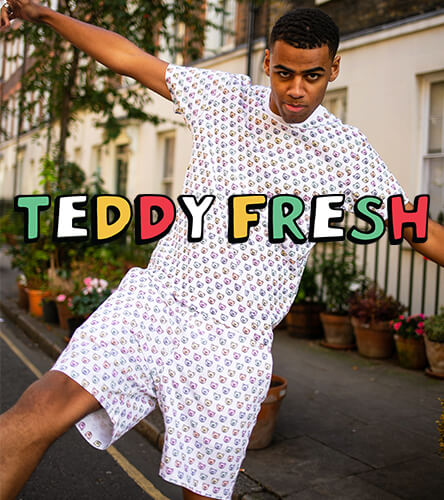 Teddy Fresh featuring the monogram allover print shirt and shorts