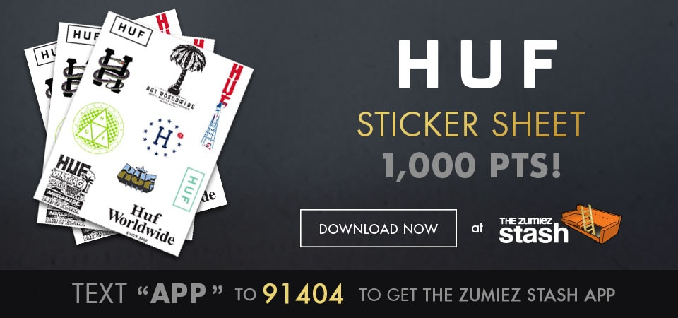 HUF Printable Sticker Sheet