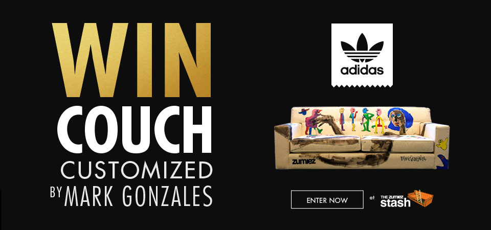 Enter to Win a Couch Featuring Art by GONZ
