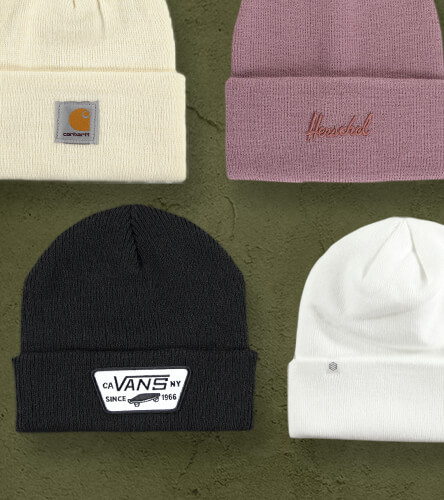 Check out our selection of beanies for men and women featuring popular styles in a variety of colors and prints from top brands like Vans, Herschel and Champion.