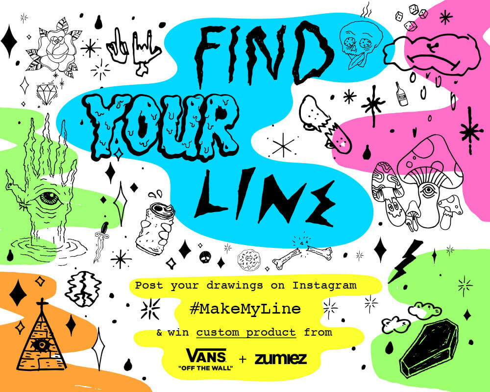 Find your line, win custom product with Vans and Zumiez