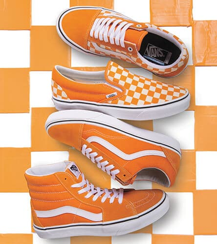 Vans cheddar orange colored shoes