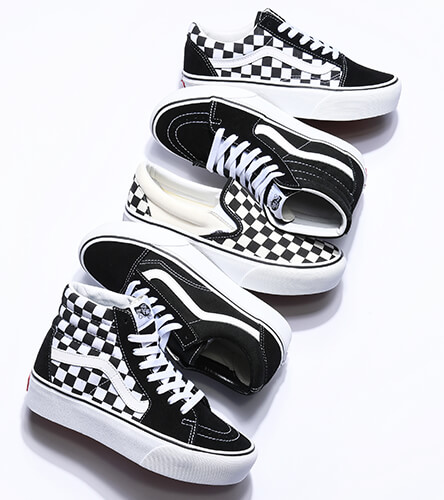 Vans shoes for men, women and kids, including Old Skools, Slip-Ons and more.