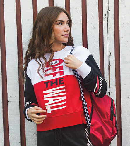 Shop sweatshirts, tees and more from Vans, featuring new logo styling and checkered graphics.