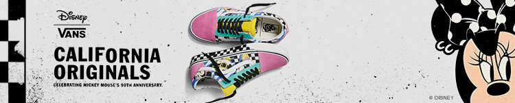 "Shop Vans shoes for women, featuring the Disney x Vans ""Mickey's 90th Birthday"" collaboration, including Old Skools, Slip-Ons and more."