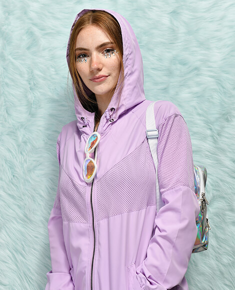 Empyre purple windbreaker