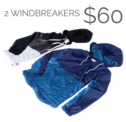 2 Windbreakers for $60
