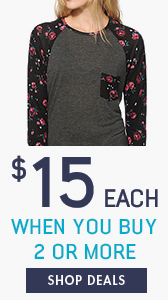 Women's Tops - $15 each when You buy 2 or more. Shop deals now!