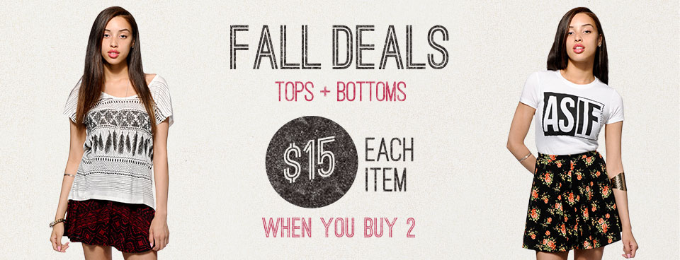 Fall Deals Build your Look