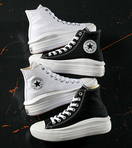 Shop shoes for women, featuring new platform styles by Converse, along with pairs from Vans and other top brands.