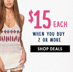 $15 Women's Tees & Tanks Deal