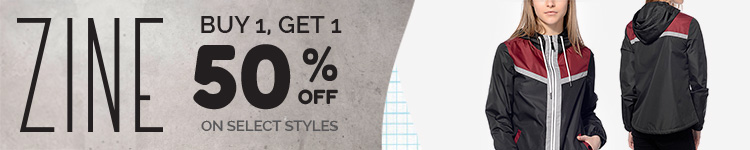 Womens Zine - Buy 1, Get 1 50% off on select styles!