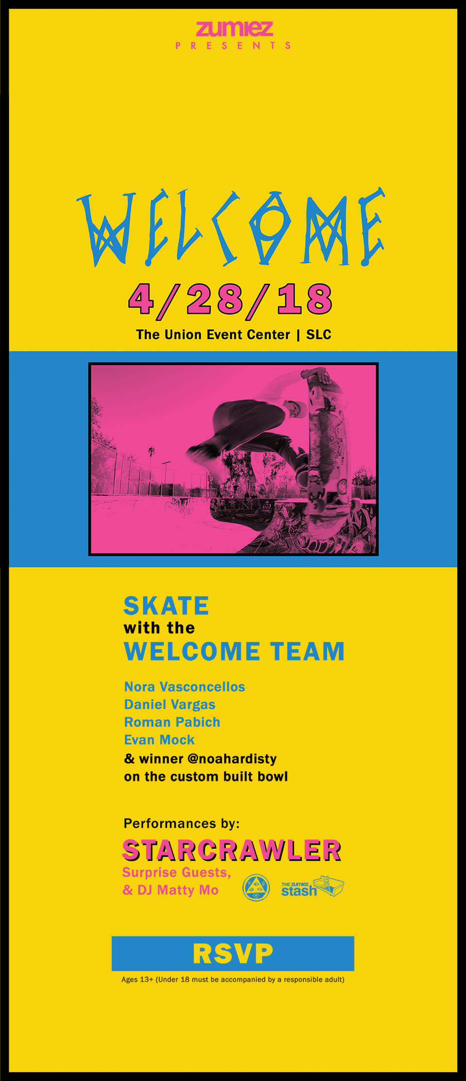 Zumiez Presents Skate with the Welcome Team
